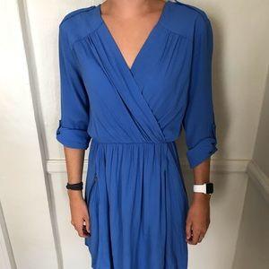 Anthropologie Maeve Cobalt Blue Dress